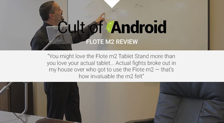 FLOTE m2 Adjustable Floor & Bed Premium Universal Metal Tablet Stand