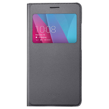 Official Huawei Honor 5X View Flip Case - Grey