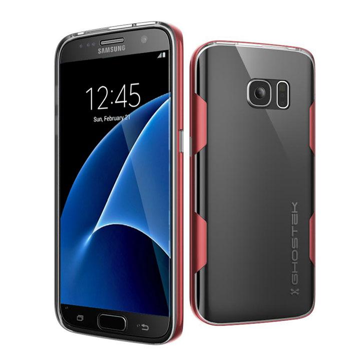 Ghostek Cloak Samsung Galaxy S7 Tough Case - Clear / Red