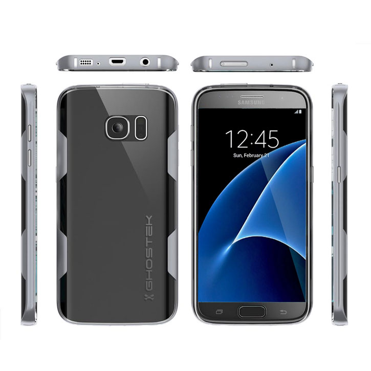 Ghostek Cloak Samsung Galaxy S7 Tough Case - Clear / Silver