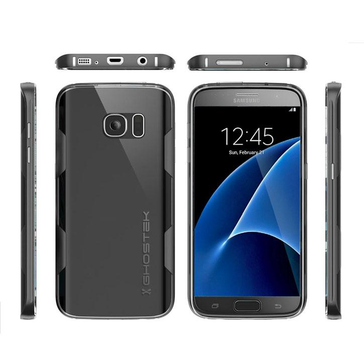 Ghostek Cloak Samsung Galaxy S7 Tough Case - Clear / Black