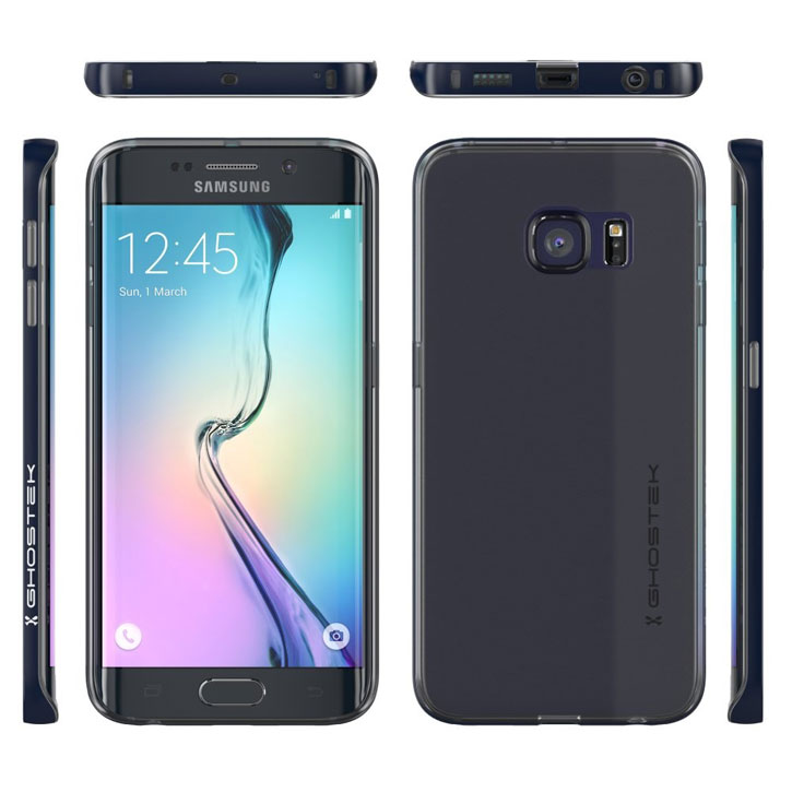 Ghostek Cloak Samsung Galaxy S6 Edge Tough Case - Clear / Black