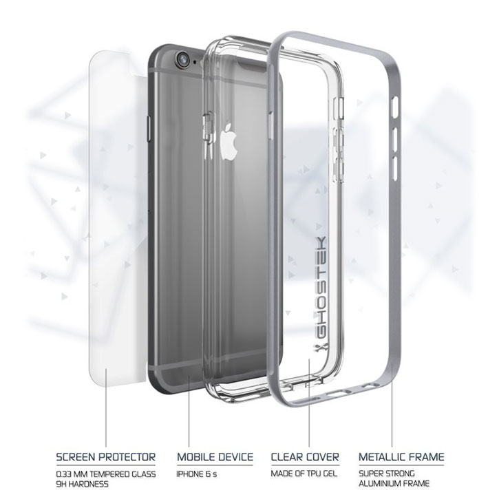 Ghostek Cloak iPhone 6S / 6 Tough Case - Clear / Silver