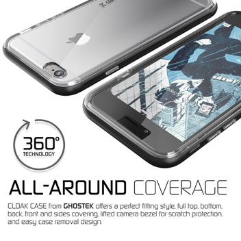 Ghostek Cloak iPhone 6S / 6 Tough Case - Clear / Space Grey