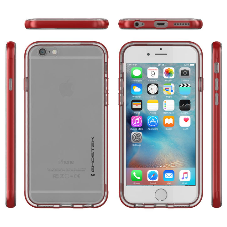 Ghostek Cloak iPhone 6S / 6 Tough Case - Clear / Red