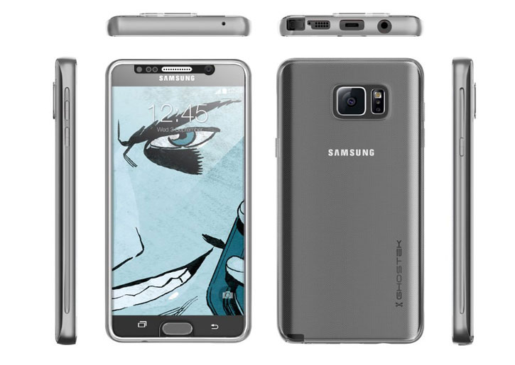 Ghostek Cloak Samsung Galaxy Note 5 Tough Case - Clear / silver