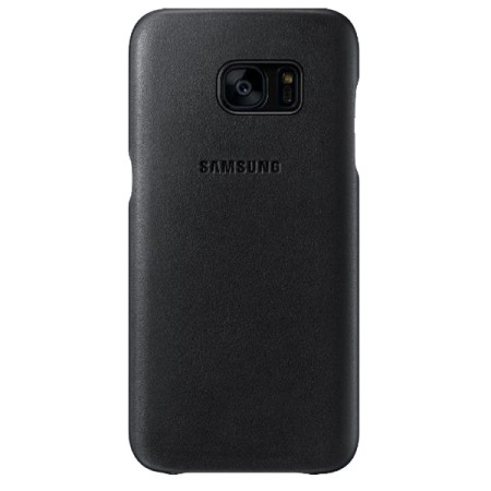 new arrival eb7f6 93806 Official Samsung Galaxy S7 Edge Leather Cover - Black