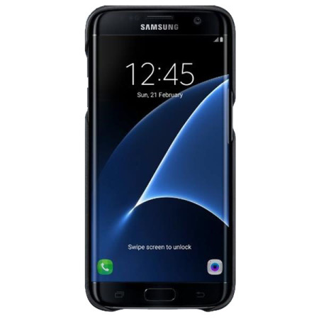 new arrival ba94d b1f99 Official Samsung Galaxy S7 Edge Leather Cover - Black
