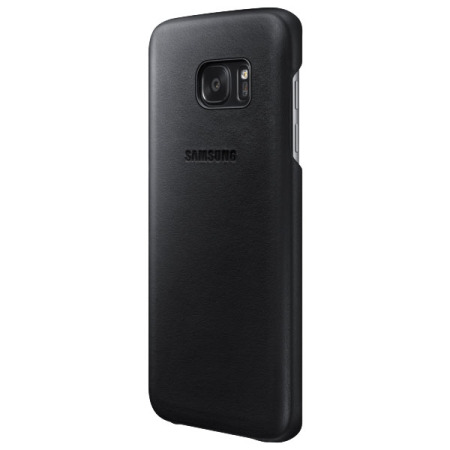 Official Samsung Galaxy S7 Edge Leather Cover - Black