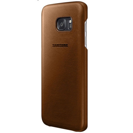 Official Samsung Galaxy S7 Edge Leather Cover - Brown
