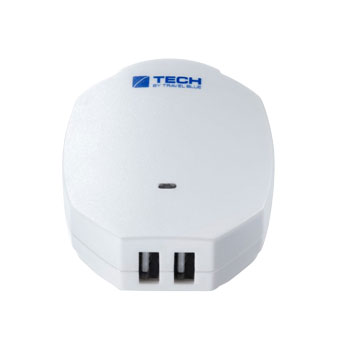 2.1A USB-C US Wall Charger - White