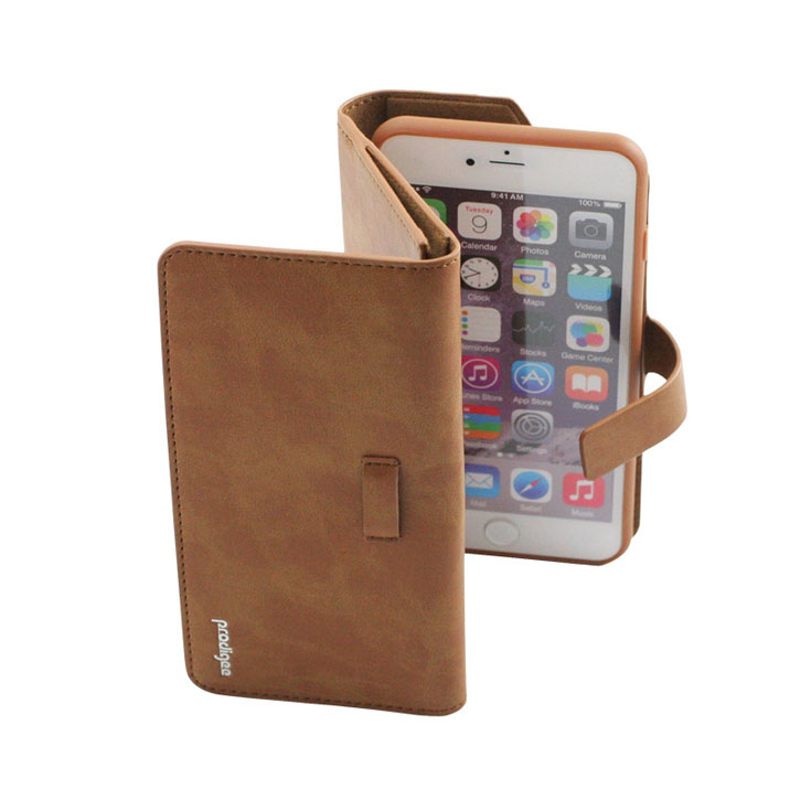 Prodigee Legacee iPhone 6S Plus / 6 Plus Eco-Leather Wallet Case - Caramel Brown