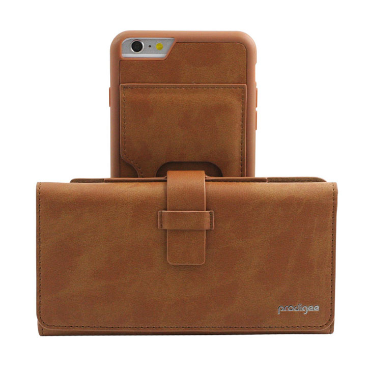 Prodigee Legacee iPhone 6S / 6 Eco-Leather Wallet Case - Caramel Brown