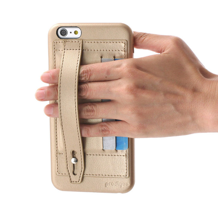 Prodigee Handee iPhone 6S Plus / 6 Plus Eco-Leather Card Case - Gold