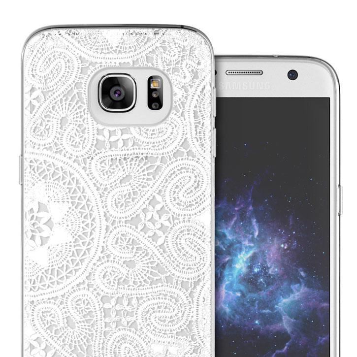Prodigee Scene Samsung Galaxy S7 Case - White Lace