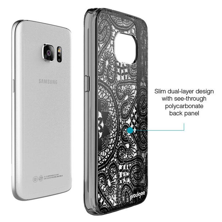 Prodigee Scene Samsung Galaxy S7 Case - Black Lace