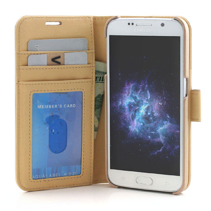 Prodigee Wallegee Samsung Galaxy S7 Wallet Case - Gold