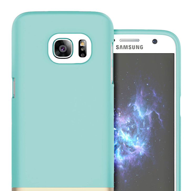 Prodigee Accent Samsung Galaxy S7 Case - Aqua / Gold