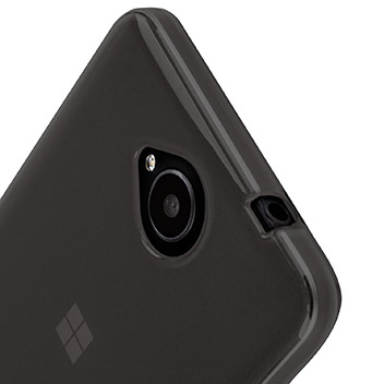 FlexiShield Microsoft Lumia 650 Gel Case - Smoke Black