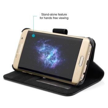 Prodigee Wallegee Samsung Galaxy S7 Edge Wallet Case - Black