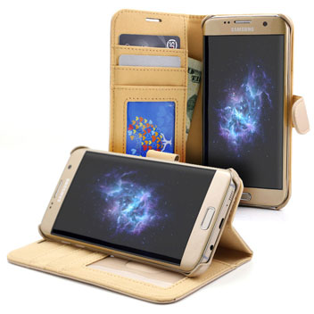 Prodigee Wallegee Samsung Galaxy S7 Edge Wallet Case - Gold