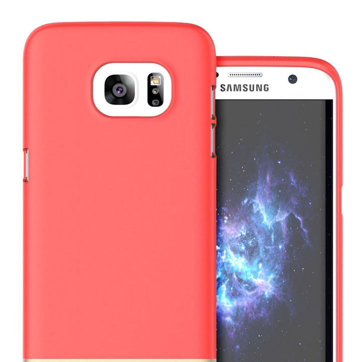 Prodigee Accent Samsung Galaxy S7 Edge Case - Red / Gold