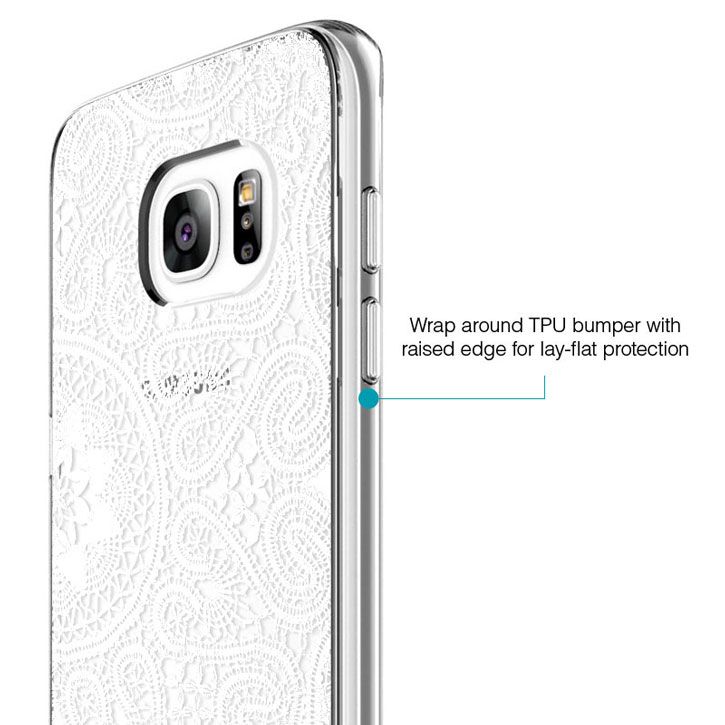 Prodigee Scene Samsung Galaxy S7 Edge Case - White Lace