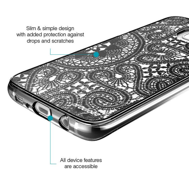 Prodigee Scene Samsung Galaxy S7 Edge Case - Black Lace