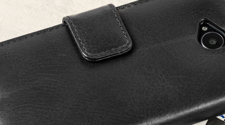 Olixar Genuine Leather Microsoft Lumia 650 Wallet Case - Black