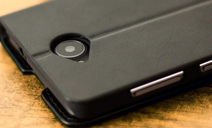 Olixar Leather-Style Microsoft Lumia 650 Wallet Stand Case - Black