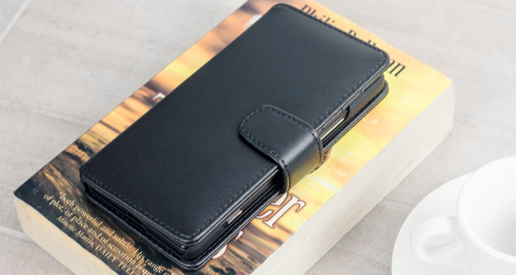 Olixar Genuine Leather Microsoft Lumia 950 Wallet Case - Black