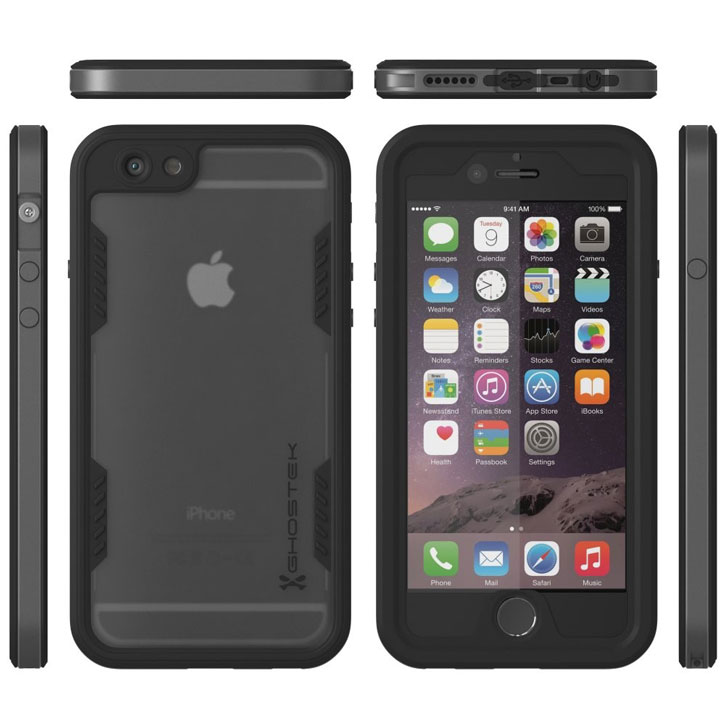 Ghostek Atomic 2.0 iPhone 6S Plus / 6 Plus Waterproof Tough Case - Space Grey