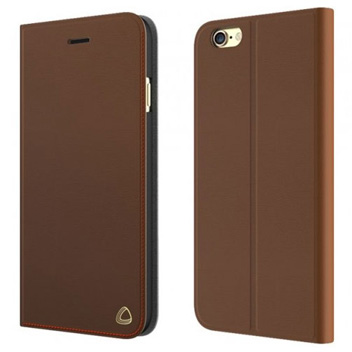 Olixar Genuine Leather iPhone 6 Wallet Case - Brown