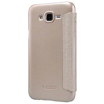 Nillkin Sparkle Samsung Galaxy J5 View Flip Case - Champagne Gold