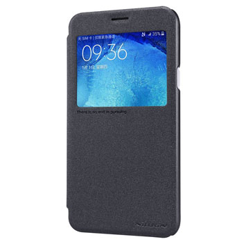 Nillkin Sparkle Samsung Galaxy J5 View Flip Case - Black