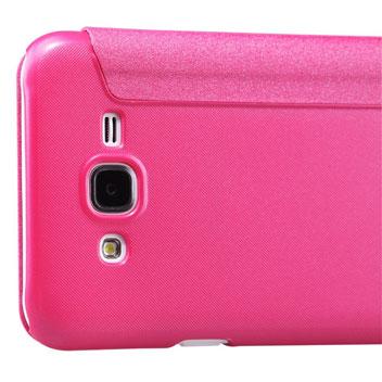 Nillkin Sparkle Samsung Galaxy J5 View Flip Case - Pink