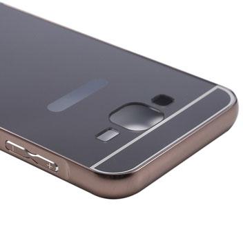 Tuff-Luv Samsung Galaxy J5 Brushed Metal Bumper Case - Black