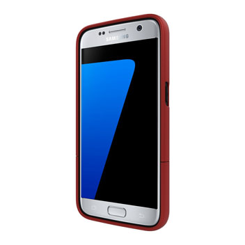 Seidio SURFACE Samsung Galaxy S7 Case & Metal Kickstand - Red / Black