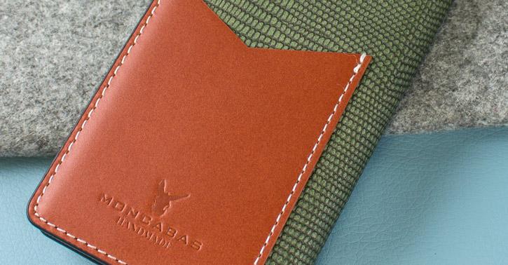 Moncabas Liza Genuine Leather Samsung Galaxy S7 Wallet Case - Green