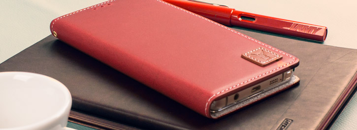 Moncabas Vintage Leather Samsung Galaxy Note 5 Wallet Case - Red