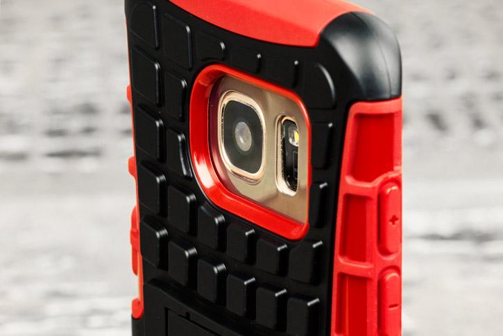 ArmourDillo Samsung Galaxy S7 Edge Protective Case - Red