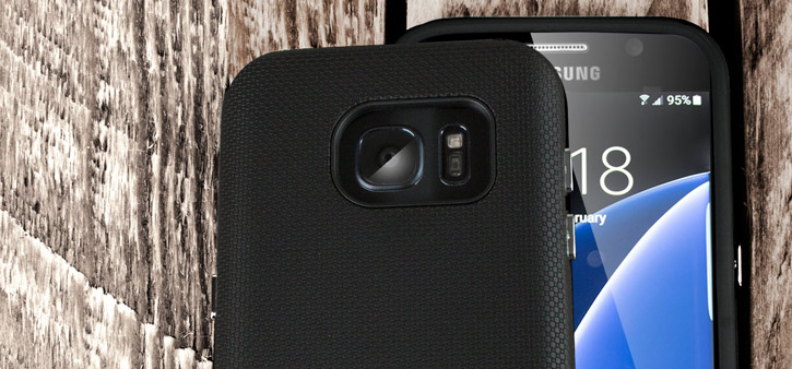 Olixar Rugged Samsung Galaxy S7 Edge Case – Black
