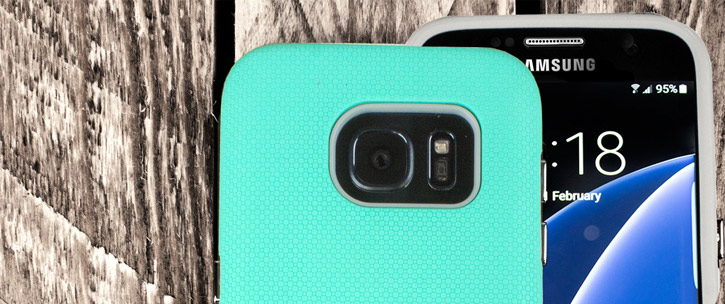 Olixar Rugged Samsung Galaxy S7 Edge Case - Mint / Grey