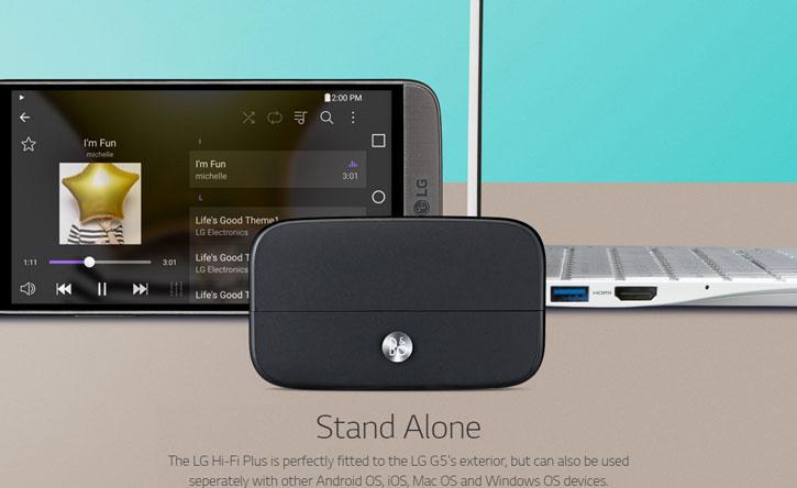 Official LG G5 Hi-Fi Plus B&O Play Audio Expansion Module - Black