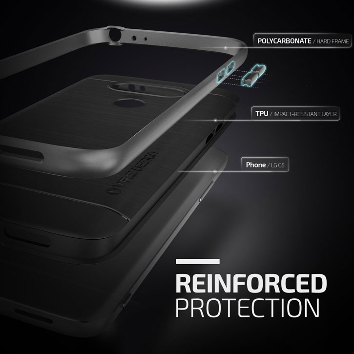 VRS Design High Pro Shield Series LG G5 Case - Steel Silver