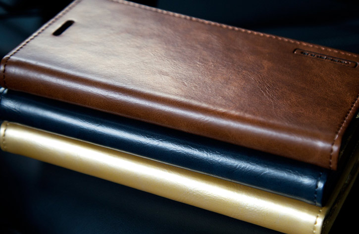 Mercury Blue Moon Samsung Galaxy S7 Wallet Case - Brown
