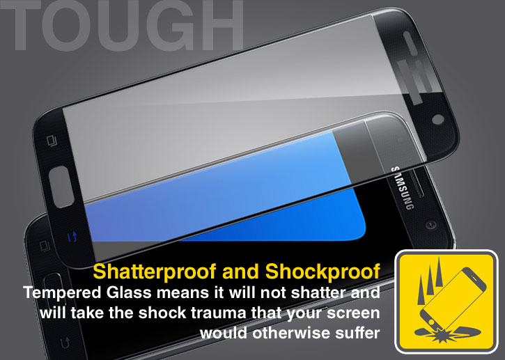 Olixar Samsung Galaxy S7 Curved Glass Screen Protector - Black