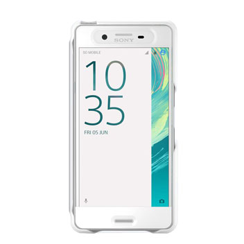 Official Sony Xperia X Performance Style Cover Touch Case - White