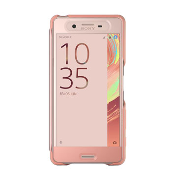 Official Sony Xperia X Performance Style Cover Touch Case - Rose Gold