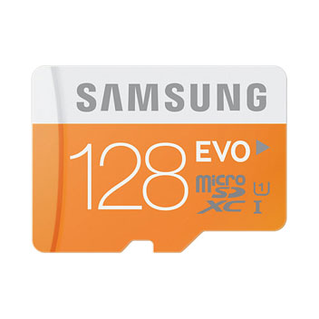 Samsung 128GB Micro SDXC EVO Memory Card & Adapter - Class 10